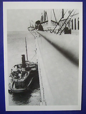 Titanic Postcard-Taking On Mail Before Departing On Maiden Voyage