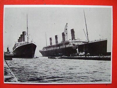 Titanic Postcard- The Titanic With Its Sister Ship The Olympic