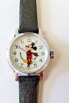 Vintage Bradley Mickey Mouse Character Watch in Case