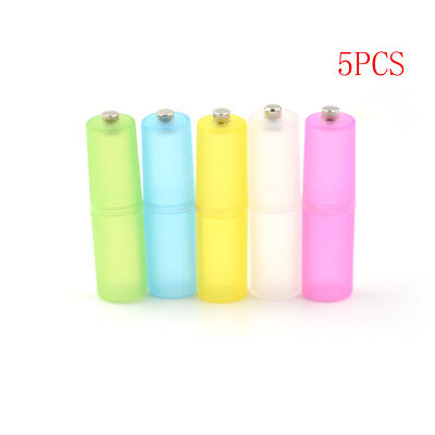 5Pcs AAA to AA Size Cell Battery box Converter Adapter Batteries Holder Case GY