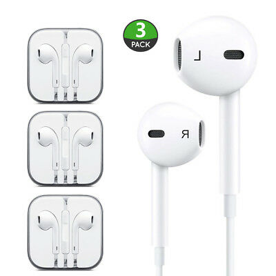 3 Pack New Headphones Earphones With Remote & Mic For Apple iPhone 6S 6 5 5S 4S