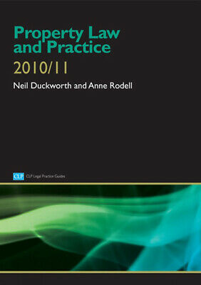 CLP legal practice guides: Property law and practice by Neil Duckworth