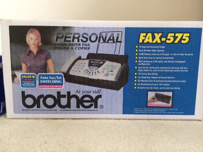 Brother Fax-575 Personal Plain Paper Fax Phone and Copier - BRAND NEW!