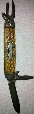 Wwii Usn Pocket Knife Horn Handle