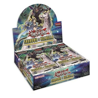 Yugioh 1ST ED SHADOWS IN/OVER VALHALLA FACTORY SEALED BOOSTER BOX (24 Packs)