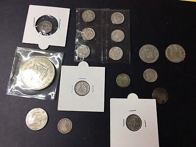 Set of British Commonwealth  silver coins, x 17 NICE LOT