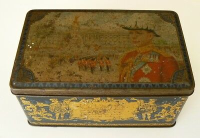 Arnotts King Edward VIII Accession Biscuit Tin 1936 (empty)