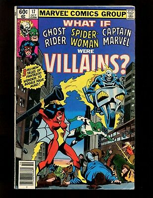 What If? #17 (News) FN- Colan Ghost Rider Spider-Woman Captain Marvel Villains