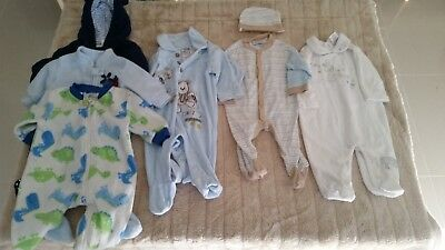Baby Boy Clothes Winter Bulk Bundle /Rompers /Coveralls x 6, Size 00