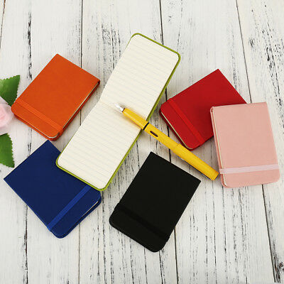 PU Portable Note Pad Notebook Pocket Diary Memo Notepad Journal Planner AU