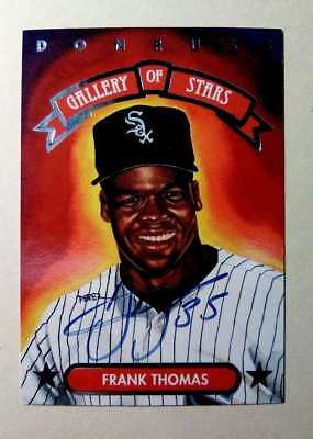1998 Frank Thomas Chicago White Sox Signed Autographed Baseball Card