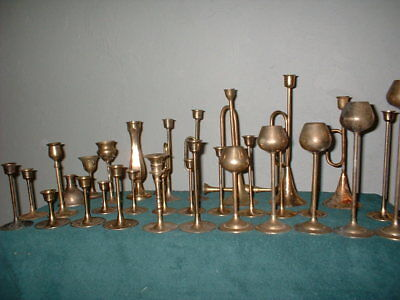 Lot of 30 Vintage Brass Taper Candle Stick Holders 3 styles & mixed pcs Wedding