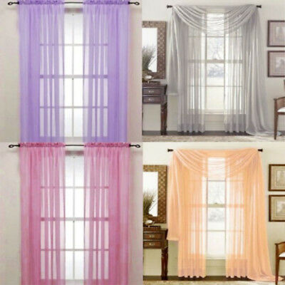 Transparent Curtain String Door Curtain Screen Divider Room Window Blinds DFB