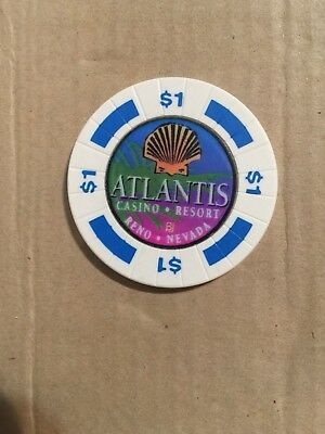 Atlantis Casino Chip in Reno Nevada.$1