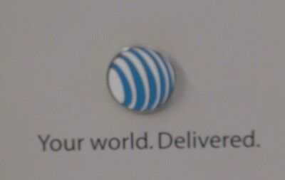 The New AT&T Pin - Ma Bell - Blue/Off White -- New in Original Presentation Card