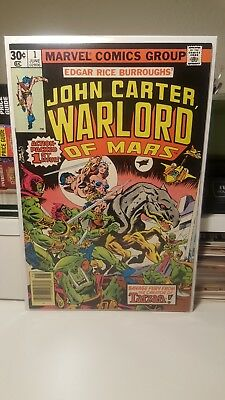 John Carter, Warlord Of Mars #1.    (Vf/nm)   ~Origin Issue~ 1977   (Bv $26.00)
