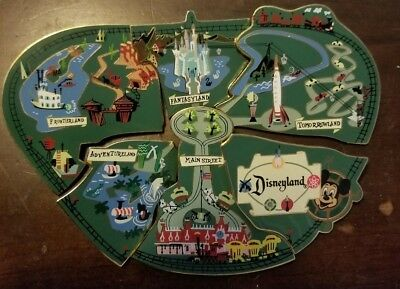 Rare Disneyland Park Puzzle Pieces Pins Adventureland, Etc. Complete Set