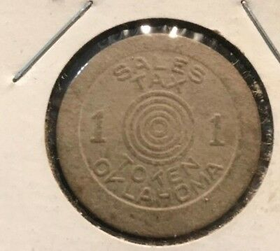 """VGC Vintage 1 Mill 1941 Oklahoma Sales Tax Token for old age assistance """"Fiber"""""""
