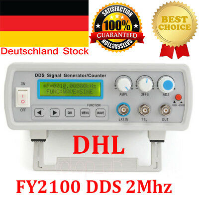 2MHz DDS Function Signal Generator Sine/Square Wave+ Sweep + Frequency Meter DE