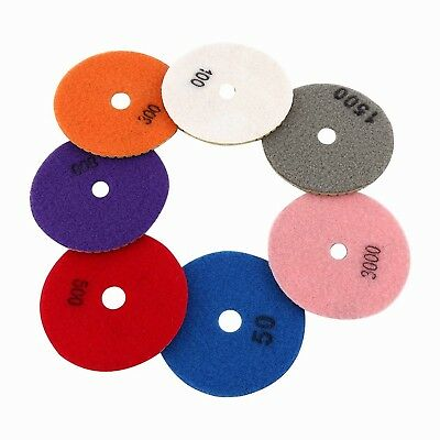 7pcs Wet Diamond Polishing Pads Set for Granite Marble Concrete Terrazzo ... New