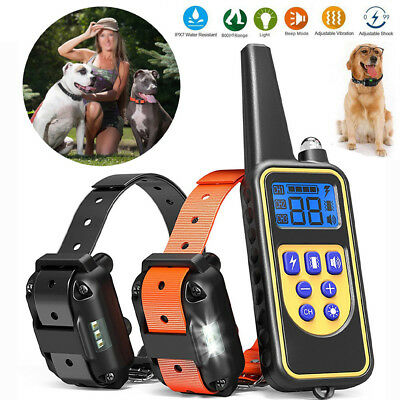 Electric Petrainer Dog Training collar Waterproof Remote Control For 1/2/3 Dog