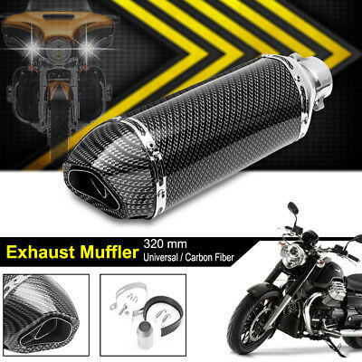 38-51MM Universal Motorcycle Carbon Exhaust Muffler Pipe Dirt Removable Silencer