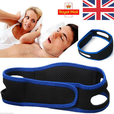 Anti Snoring Chin Strap Belt Stop Snore Device Apnea Jaw Support Solution in UK