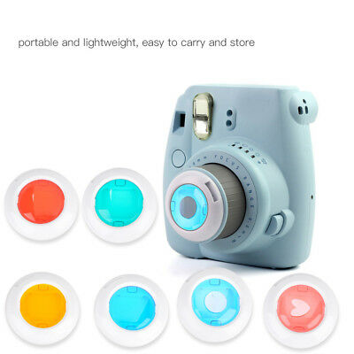 4/6 Colors Lens Filters Photography Accessory Set for Fuji Instax Mini 7S/8/8+/9