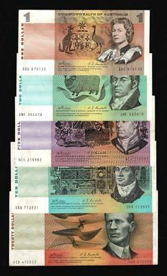 1968-9 $1,$2,$5,$10,$20 PAPER DECIMAL NOTES,3rd ISSUE..PHILLIPS/RANDALL..SCARCE.