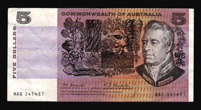 1967 $5 Decimal Paper Banknote..coombs/randall..scarce..going Cheap.