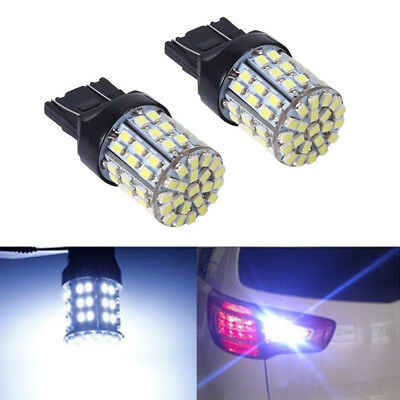 2pcs T20 7440 7443 64 SMD White 6000K Reverse Brake Tail 12V LED Bulb Light New