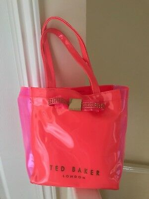 286d4b79fb3ab TED BAKER PINK Diamante Bow Detail Small Icon Bag - £0.99
