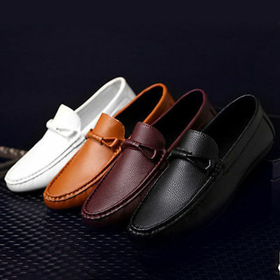 Mens Slip On Designer Loafers Driving Shoes Casual Moccasin Fashion Size Dress