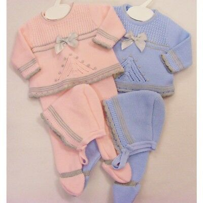 Kinder Spanish Style Traditional Baby Boys Girls Knitted 3 Piece Outfit AW'18