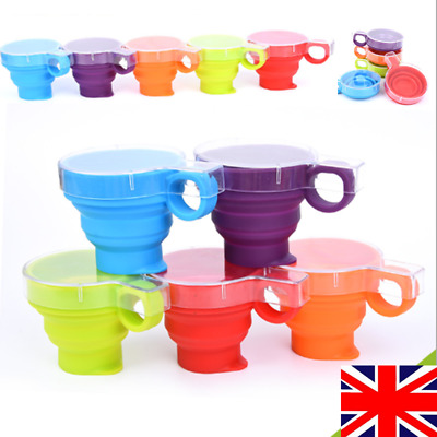 Portable Silicone Telescopic Drinking Collapsible Folding Cup for Travel Camping