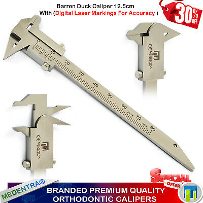 Dental Orthodontic Barren Duck Bracket Positioning Gauges Calipers Laboratory CE