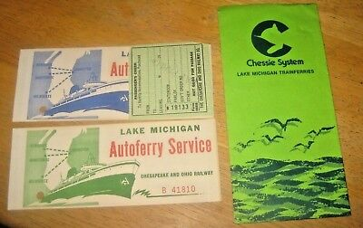CHESSIE System LAKE MICHIGAN SS Badger Auto Ferry Envelope 2 Tickets 1980