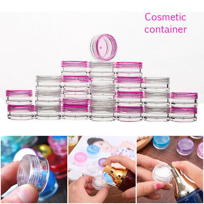 200X Small Plastic Empty Cosmetic Sample Art Craft Storage Containers Jars Pots