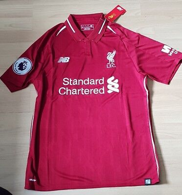 Liverpool FC Home Shirt 2018/19 Medium or Large Comes with WU and BPL Badges!