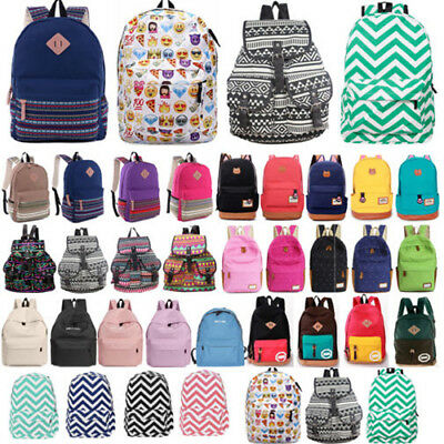 Women Girl Canvas Backpack Schoolbag Travel Laptop Rucksack Shoulder Bag Satchel