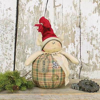 Primitive HERMAN SALVAGE ELF DOLL Country Farmhouse Winter Christmas Holiday