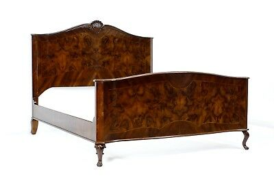 Antique Double Size Bed- 1940- Walnut Wood- After professional renovation