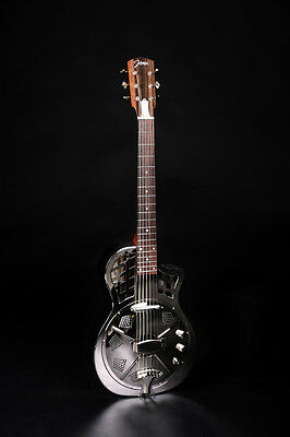 RESONATOR GITARRE JOHNSON JR-994 E chrome finish +Tonabnehmer (UVP 2018: 870 €)