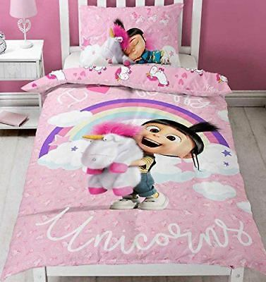 Despicable Me DayDream Agnes Fluffy Unicorn Single Panel Duvet Cover Bedding Set