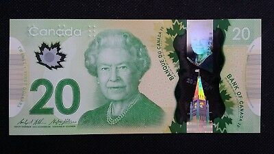 CANADA $20 Dollars 2012 2015 P108 Wilkins/Poloz UNC Polymer Banknote