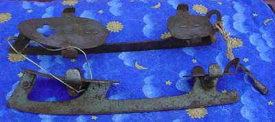 Early American Antique Pair of 19th Century Samuel Winslow Ice Skates W/ Key