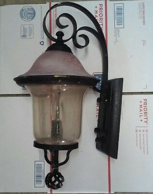 Vintage Heavy Cast Aluminum Outdoor Porch/garage Light Fixture Sconce