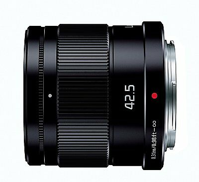 Panasonic LUMIX G 42.5mm/F1.7 ASPH./POWER O.I.S H-HS043-K Black Lens Japan New