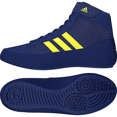 Adidas Havoc Kids Boxing Boots Wrestling Trainers Childrens Blue Boys Shoes