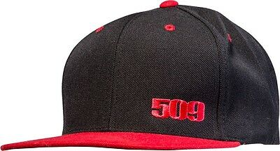 509 Snowmobile Sled Red & Black Snap Back Flat Bill Cap Hat  - New